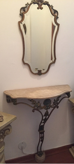 Aparador Antigo Francês Com Espelho Bisotado