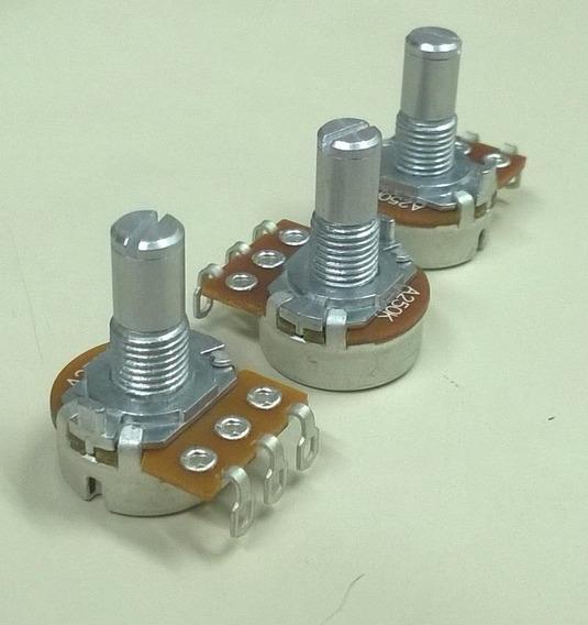 Potenciômetro A 250k - Log - Pack Com 5 Unidades