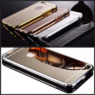 Funda Lujo Espejo Búmper Aluminio iPhone 6 Plus