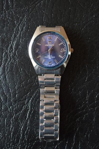 Relógio Masculino Azul Orimet Pequeno Qualidade Classico