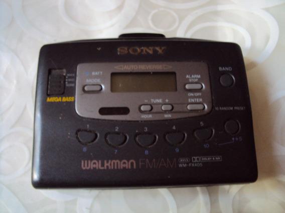 Walkman Toca Fitas Antigo Sony Lcd No Estado Wm Fx405 Raro