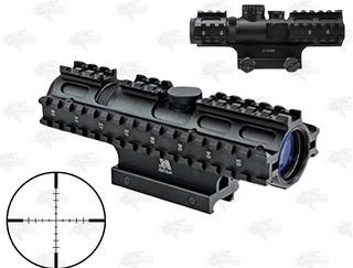 Mira Ncstar 2-7x32 P4 Sniper Tri Riel Caceria Gotcha Xtreme