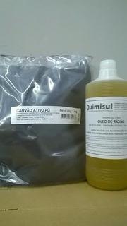 Óleo Ricino 1 L+ Carvão Ativado Pó 1kg + Sal 1kg+ Coco 500ml