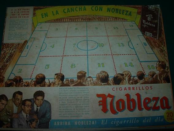 Publicidad Antigua Clipping Cigarrillos Nobleza Cancha Futbo