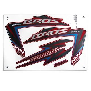 Kit Jogo Adesivo Honda Nxr150 Bros 2012 Vermelho