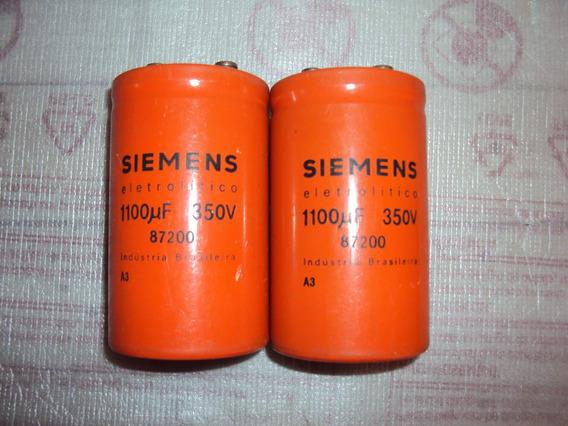 Capacitores Eletrolíticos Siemens 1100mf 350v Testados