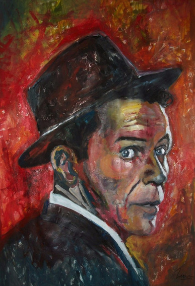 Frank Sinatra Capitol Jazz Rat Pack Arte Orig Marcelo Neira