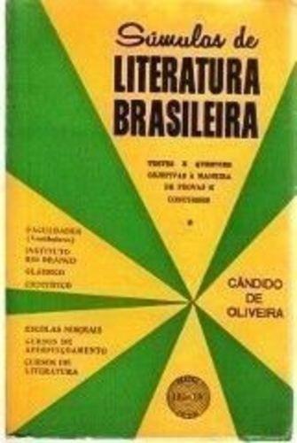Livro Súmulas De Literatura Brasileira Cândido De Oliveira