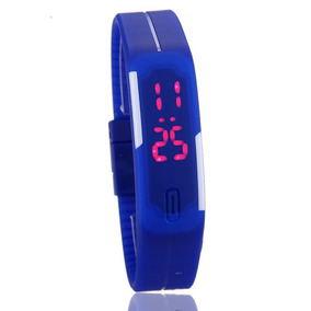 Relogio Digital Unissex Bracelete Led 30m Frete Grátis