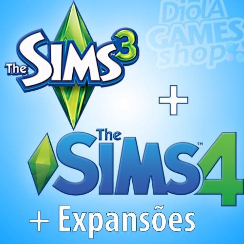 The Sims 3 + The Sims 4 + Todas As Expansões!!