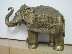 Escultura Elefante De Bronze Indiano 80 X 60 Cm Peso 36 Kg