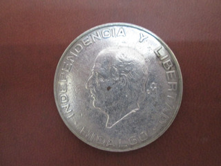 Moneda Antigua Hidalgo 5 Pesos Chica Plata Ley .720.