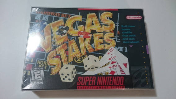 Vegas Stakes Super Nintendo Americano! Novo Lacrado A++ Mint
