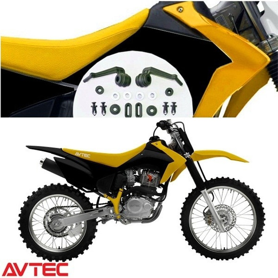 Kit De Plásticos Crf 230 2015 Avtec (amarelo/preto)