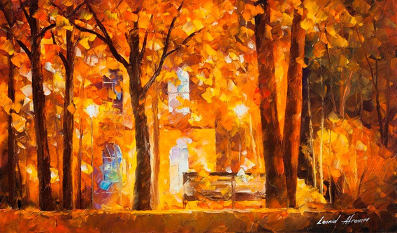 Foto Poster 65x100cm Obra Autumn City Park Pra Decorar Sala
