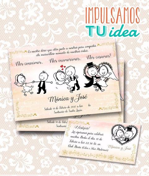 Invitación De Casamiento - Tarjeta De Boda Imprimible