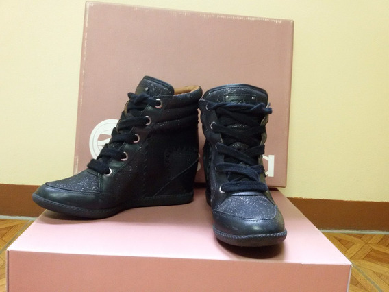 Tênis Esdra Sneaker Gliter Preto - Tenis - Calçado Feminino