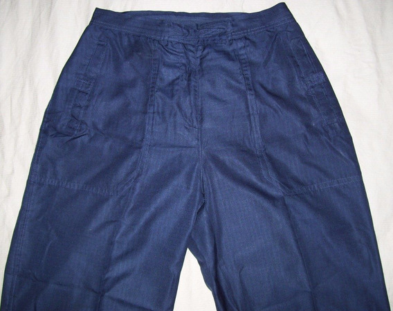 Pantalón Talla 8 Dama Casual Color Azul Oscuro