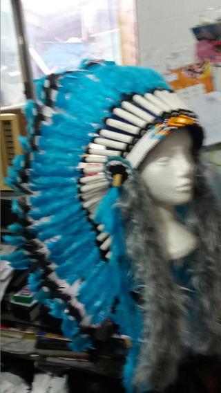 Cocar Indígena Chefe Ceremonial Nativo Americano Xamanismo