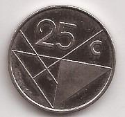 Aruba Moneda De 25 Cents Año 1991 !