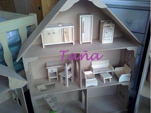 Imagen 1 de 3 de Muebles Y Accesorios Para Casa De Muñeca Barbie Infantiles