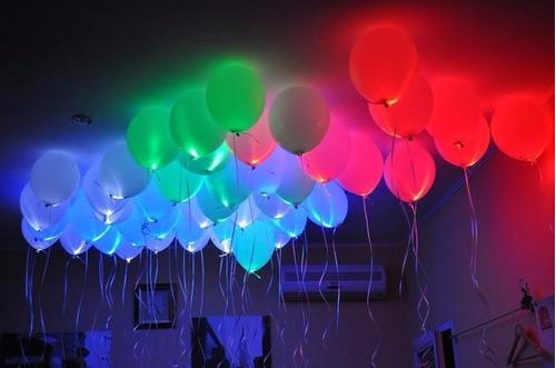 Luz Led Para Globos Blancas Decoración Fiestas Neón Sorpresa