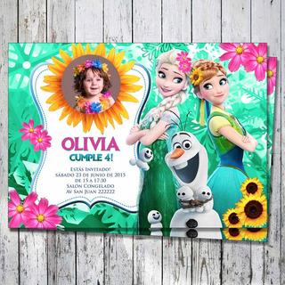 Invitación Imprimible Fiebre Frozen Personalizada Foto!