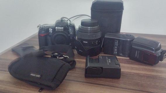 Camera Nikon D7000+ Lente Sigma 24-70+brindes