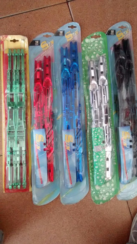 Cepillos Limpiaparabrisas Dobles,varios Colores,precio Par