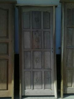 Puerta De Madera Algarrobo Exterior - Interior
