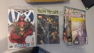 8 Revistas Hqs Manga Vingadores X-men Justiceiro Dredd