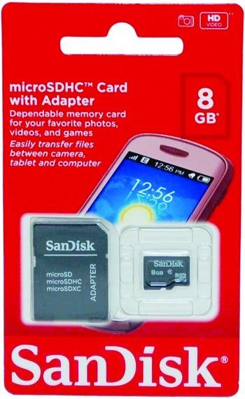 1 Cartão Memória Microsd Sandisk 16gb Lacrado Original