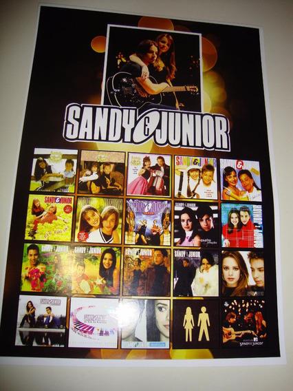 Poster Coleção Sandy E Junior Discografia Lp Sandy & Junior
