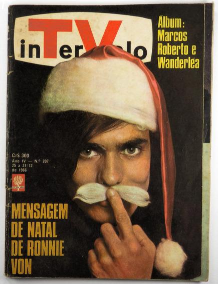 Intervalo Revista De Tv Antiga Rara Ano 66 Ronnie Von