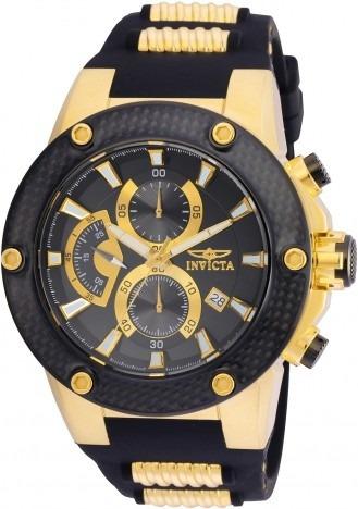 Relógio Invicta Speedway Pulseira Borracha Preto Ref 22401