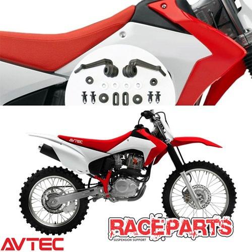 Kit Plástico Crf230 2015 2016 2017 Avtec Vermelho Branco