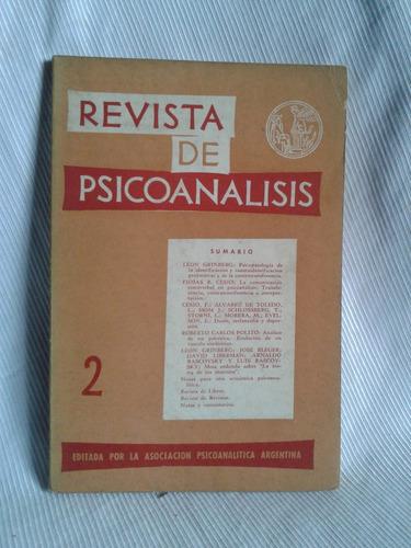 Imagen 1 de 2 de Revista De Psicoanalisis Abril Junio 1963 Tomo Xx Nº2