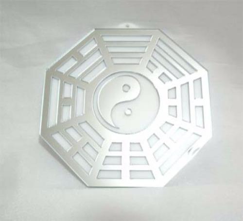 Baguá Acrílico Espelhado Branco 9 Cm - Ma4104-01