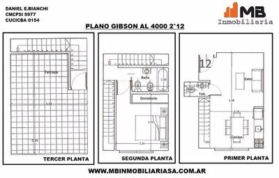 Boedo Venta En Pozo Ph 2 Ambientes, Gibson Al 4000 2°12