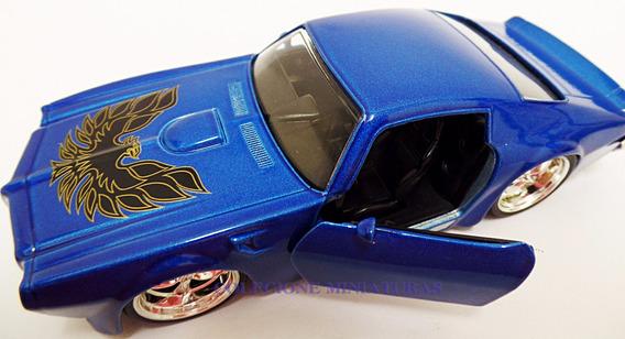 Miniatura Pontiac Fire Bird Ano 1972 Azul Jada 1:32 Raridade