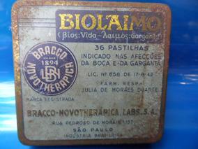 Lata Pastilha Biolaimo Antiga Anos 1940 Lab Novotherapica #3