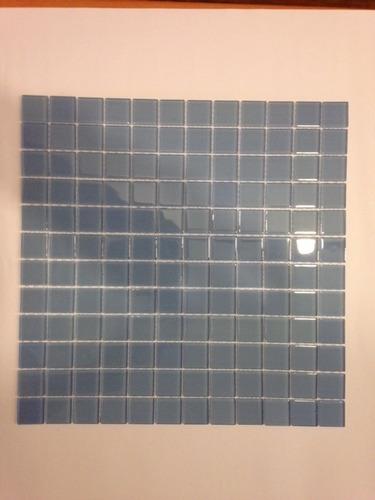 Mosaico De Vidrio Celeste 30 X 30 Cm.