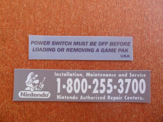 8 Kit Etiqueta - Super Nintendo - Extra Qualidade 100% !