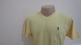 7367e981eb Camiseta Polo By Ralph Lauren Amarela Tamanho P Gola V