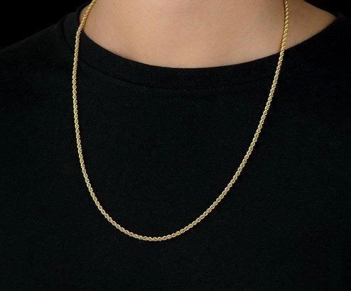 Corrente Em Ouro 18k 750 Cordão Baiano 50cm