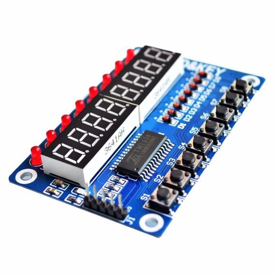 Tm1638 Digital 8 Digitos Led Display 7 Segmentos Pic Arduino