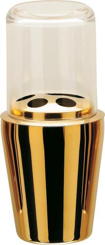 Imagem 1 de 1 de Porta Escova De Dentes Hara Spa Golden ( Aço Inox Dourado )