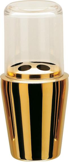 Porta Escova De Dentes Hara Spa Golden ( Aço Inox Dourado )
