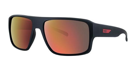 Oculos Solar Hb Redback Matte Black D. Red 9011670290