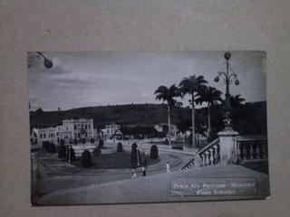 Rara Foto Postal Da Praça Ary Parreiras Em Miracema / Rj